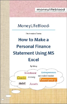 Kris Diane Domingo's e-book How to make a Personal Finance Statement using MS Excel